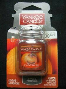 NEW Yankee Candle Spiced Pumpkin Ultimate Car Jar Air Freshener