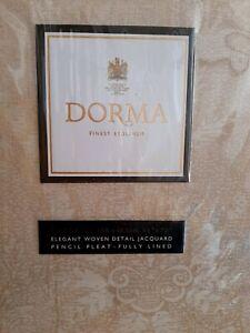 Dorma Beatrice sand gold curtains 168cm x 183cm a pair brand new
