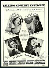 1945 Carlos Salzedo harp photo Concert Ensemble tour booking trade print ad