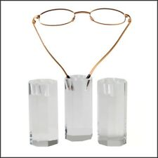 Optical Display - Octagonal Eyewear Mini Towers w/ Holes - Set of 3 in Clear