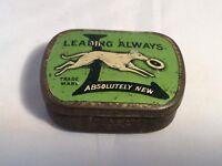 Rare Green Vintage Perophone British Gramophone Needle Tin Dog Advertising 40's