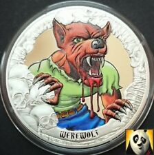 2016 Rare KIRIBATI $5 Five Dollars Werewolf Lycan Silver Proof Coloured Coin