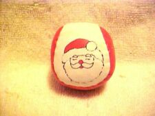 Hacky Sack Balls Toy Hacky Sak With Santa Claus On Each, Never Used Lot Of 2