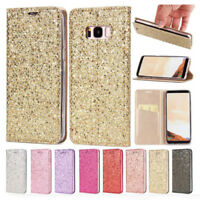 Bling Magnetic Wallet Case Flio Cover for Samsung Galaxy S9 S8+ S6 S7 Edge A750