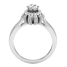 Round Cut 1 Ct Diamond Engagement Rings VVS1/D 925 Sterling Silver Size 6 7 8 9