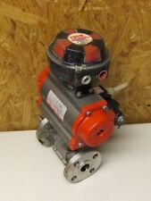 "TRIAC TR80SR5 1"" FLANGE STAINLESS S/S ACTUATOR VALVE & 2-SPDT POSITION INDICATOR"