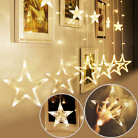 christmas LED String Fairy Lights Star Curtain  Party Wedding lamp decorations