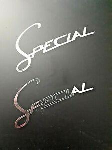 Lambretta Special logo chrome decals X2 pair scooter li  tv sx gp