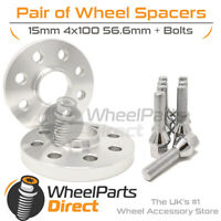 Wheel Spacers & Bolts 15mm for Opel Calibra (4 Stud) 89-97 On Original Wheels