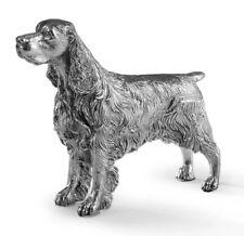 More details for hallmarked sterling silver springer spaniel model