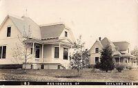 Real Photo Postcard Residences of Oakland, Nebraska~108322
