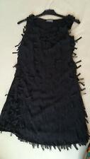 tolles Fransen Kleid  Gr. S  FEIER Abendkleid Tanzen schwarz
