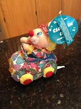 Heartwarmers Clown in Car plush sound activated light up headlights RARE NWT