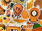 50 Orange Sticker Bomb Scrapbooking Laptop Phone Skin Lot Set Decoration Decals