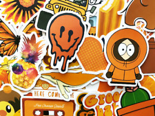 50 Orange Sticker Bomb Scrapbooking Laptop Phone Skin Lot Set Decoration Decals