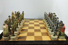 World War II - Historically Themed Chess Set #Ceramic Historical Chessmen