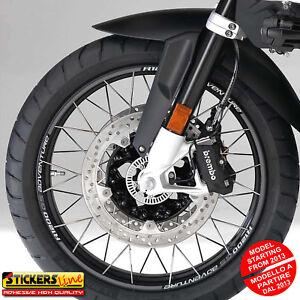 Adesivi cerchi moto BMW R1200GS ADVENTURE versione dal 2013 wheel stickers MOD#1