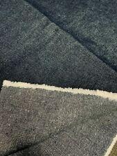 "New listing Dark Denim 1970s Vintage Fabric 20"" by 63"" Wide Unbranded Heavy No Stretch"