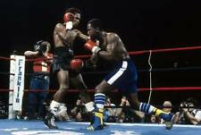Old Boxing Photo Kevin Howard Moves To Throw A Punch Against Sugar Ray Leonard