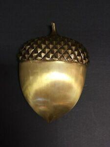 Vintage Brass Acorn Nut Door Knocker