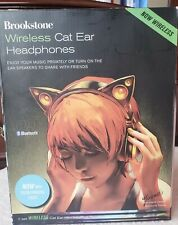 BRAND NEW Brookstone Wireless cat ear headphones