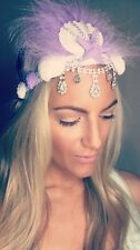 Purple Feather Diamond Shell Couronne Crochet Cheveux Tête Bande Choochie hippy boho