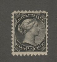 Canada 1890s 1/2c small queen Scott #34 VF centering Mint lightly hinged