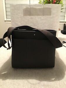 Designer brand name Montblanc Messenger Bag, brown - 114457 men/women msrp $800