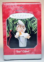 Hallmark: Sew Gifted - Thimble and Needle - 1988 Classic Keepsake Ornament