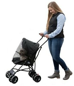 Pet Gear Travel Lite Pet Stroller for Cats and Dogs up to 15-pounds Black Ony...