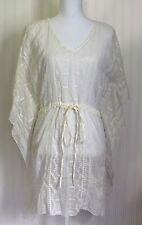 ALLOY APPAREL Polyester White Lacy Dolman sleeve V neck Tunic Top Women's Small