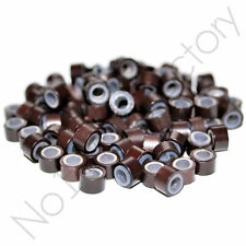 1000 Silicone Lined Micro Rings/Beads for i-Tip Hair Extensions 4mm, 4.5mm, 5mm