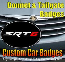 Chrysler Crossfire SRT6 Grille et Hayon badges (Noir/Chrome/rouge)