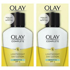 2 Olay 3in1 Lightweight Day Fluid Sensitive SPF15 Essentials Complete Care 100ml