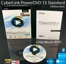 Cyberlink powerdvd 15 estándar versión completa box + CD ultra 4k DVD-Player OVP nuevo