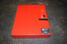 Empty Fire Alarm Red Metal Enclosure Box with Lock and Key Silent Knight 5499