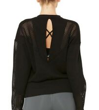 Alo Yoga Women's Formation Long Sleeve Top - Size S black