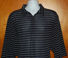 Tri-Mountain Performance Blue & White Striped Short Sleeve Polo Shirt Men's 2XLT