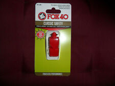 FISCHIETTO ARBITRO FISCHIO FOX 40 ROSSO ORIGINAL FOX40 RED REFREE WHISTLE AIA