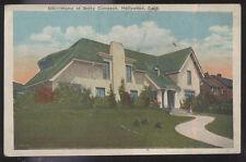 1920s POSTCARD MOVIE STAR HOME BETTY COMPSON HOLLYWOOD CA CALIFORNIA