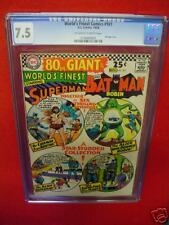 CGC 7.5 WORLD'S FINEST COMICS #161 DC 1966 80 page giant Superman Batman silver