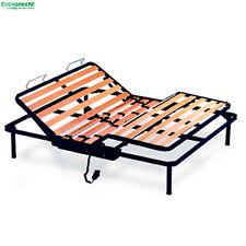 "Iron Electric Beech Slatted Bed Base KIWI Double 4ft4"" x 6ft3"" (135 X 190 cm)"