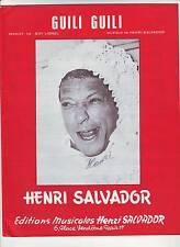 partition  HENRI SALVADOR guili guili