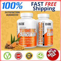 Tumeric Curcumin 90 Capsules Max Potency 95% With Bioperine Black Pepper 1500mg