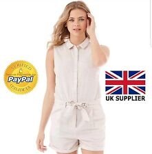 Vila Summer Playsuit Dress Womens Maier Playsuit Soft Camel Size Large (L)