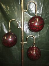 VINTAGE RETRO MIDCENTURY MODERN DANISH ERA 3 LUCITE  SHADE TENSION POLE LAMP