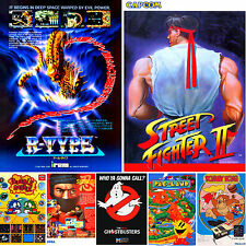 ARCADE / MAME FLYERS - LARGE A3 OR A4,A5 REPRODUCTION POSTER - FREE UK P&P