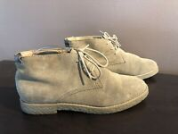 Women's TOMMY HILFIGER Tan Suede Leather Lace Up Oxford Shoes Ankle Boots Size 7