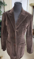 Vintage Limited Brown Velvet Blazer Jacket Sz 6 GUC