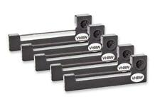 5x Ruban Cassette Cartouche Noir Nylon pour Sharp EL 7001, PC 1211